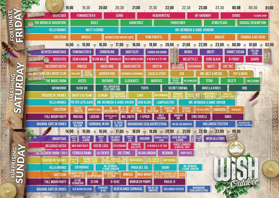 Timetable - Wish Outdoor